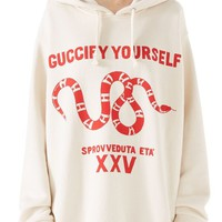 Gucci Guccify Yourself Snake Print Hooded Sweatshirt | Nordstrom