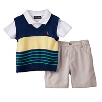Only Kids Apparel Stripe Sweater Vest Set - Toddler Boy, Size: