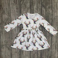 Girls Boutique Floral Deer dress