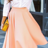 Cupshe Swing Your Body Coral Swing Skirt