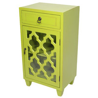 Heather Ann 1 Drawer and 1 Door Cabinet with Glass Insert