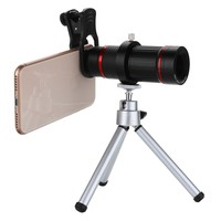 18x Telephoto Lens + Clip + Tripod + Box Universal Phone External Photo Camera Telescope for Smartphone Outdoor Photography