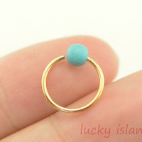 Tragus Earring,turquoise Cartilage hoop earring,cartilage Earring,tragus Helix earring,turquoise jewelry