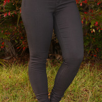 Gained My Trust Jeans: Charcoal Gray