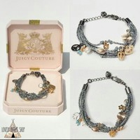 Juicy Couture Multi Strand Charm Bracelet NWT
