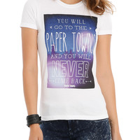 Paper Towns Never Come Back Girls T-Shirt