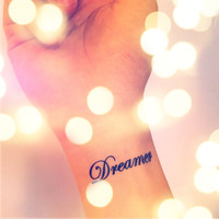 2pcs DREAMER tattoo - InknArt Temporary Tattoo - pack tattoo quote wrist ankle body sticker anchor fake love bird tattoo