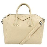 Givenchy Women's Antigona Matte Satchel Bag, Beige, Medium