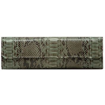 Circle & Square | Amanda Python Clutch