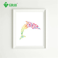 Cotill Mondern Dolphin Wall Pictures For Living Room Canvas Painting Pictures Pictures NO Frame Home Decor Posters And Prints