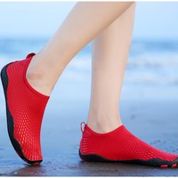 2018 hot sale update swiming couple men women shoes safty non-slip outdoor sports fishing play water beach driving wader shoes
