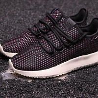 DCCK2 A261 Adidas Tubular Shadow CK Yeezy 350 Knit Running Shoes Black Purple