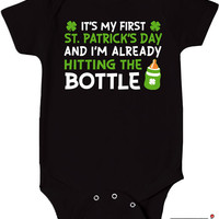 First St. Patrick's Day Bodysuit Funny Baby Clothes Onepiece Gifts For Baby Toddler T Shirt Cute Creeper Romper MD-340