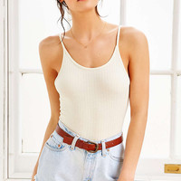 Ribbed Bodysuit - Urban Outfitters