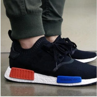 New Arrival Hot Sale NMD Runner Black/Red/Blue Men's Sports Running Shoes