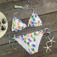 Womens Four Seasons Pineapple Fruit Fresh Bikini Set