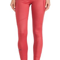 adidas by Stella McCartney Perforated Running Tights in Rust