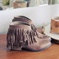 Fringed Horizon Booties
