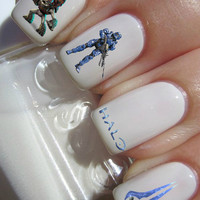 Halo Nail Decals