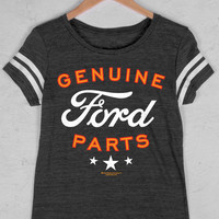 Women's Country Girl® Genuine Ford Parts Vintage Triblend Football Tee