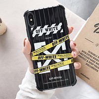 OFF White Fashion Mobile Phone Cover Case For iphone 6 6s 6plus 6s-plus 7 7plus 8 8plus X XSMax XR Black