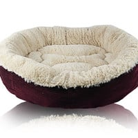 Cozy Cute Pet Bed for Small-Medium Dog with Bone Imprint on Bed