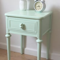 Mint Green Nightstand with Owls- SOLD