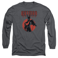 BATMAN BEYOND/ICONIC POSE-L/S ADULT 18/1-CHARCOAL