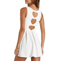 TRIPLE HEART CUT-OUT SKATER DRESS