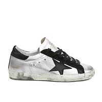 golden goose deluxe brand super star sneakers silver black couples shoes
