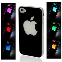 NEW Sense Flash Light Case Cover for Apple iPhone 4, 4S and 4G LED LCD Auto Color Change:Amazon:Cell Phones & Accessories
