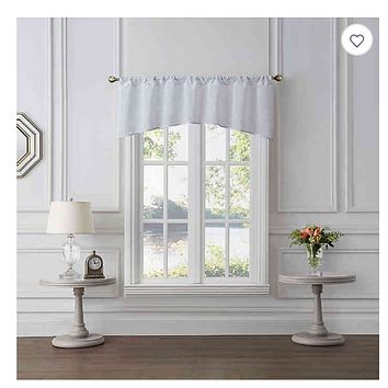 Tiburon Sheer Window Valance in White
