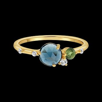 London Blue Topaz Head in the Clouds Ring