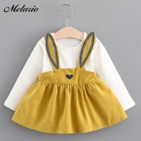 Melario Baby Dresses Summer Baby Girls Clothes Lace Bow tie Mini A-Line Baby Princess Dress Cute Cotton Kids Clothing