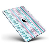 """Pink Green Teal Vertical Pattern Full Body Skin for the iPad Pro (12.9"""" or 9.7"""" available)"""