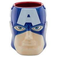Disney Store Ceramic Marvel sculptured Captain America Coffee Mug new with box
