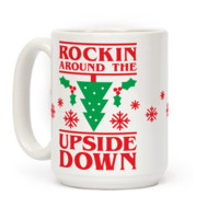 ROCKIN AROUND THE UPSIDE DOWN MUG