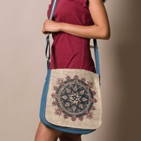 Hemp Om Mandala Bag