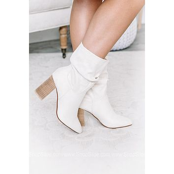 Darby Block Heeled Slouchy Booties | Stone