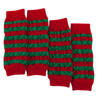 Top Paw® Pet Holiday™ Striped Leg Warmers