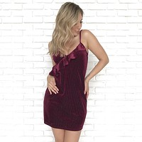 Velvet Dreams Wine Dress