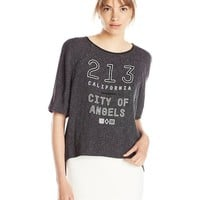 BCBGeneration Women's Boxy Graphic Raglan Top