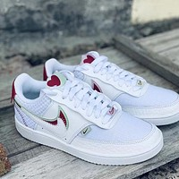 NIKE W COURT VISION LO PRMV Valentine's Day Men's and Women's Low-Top Sneakers Shoes