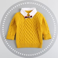 Boys Thick Knitted Pullover-4 colors