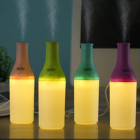 Cool Bottle Led Humidifier Home Aroma Air Diffuser Purifier Atomizer essential oil diffuser difusor de aroma mist maker fogger