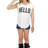 Dirtee Hollywood Hello/Goodbye Sleeveless Tee | Mod Angel