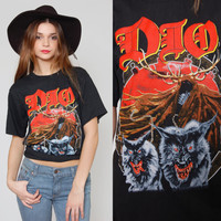 Vintage 90s DIO Tour T Shirt 1990 Lock Up The Wolves Tee Shirt Band Tee Graphic Rock Tee NEVER WORN