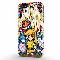 Adventure Time Legends Of Zelda Glass Stained iPhone 5 | 5s Case, 3d printed IPhone case