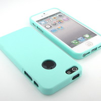 GNJ New Premium Mint Green Soft matte silicone case cover for iPhone 5