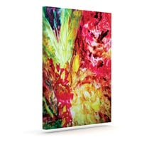 """Mary Bateman """"Passion Flowers I"""" Outdoor Canvas Wall Art"""